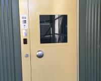 Secure SPS1 door with frame mounted custodial lock