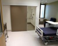 Sliding hospital door
