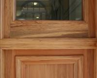 Sidelight mullion detail for a heritage fire door set.