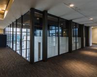 Forster steel glazed windows over large atrium